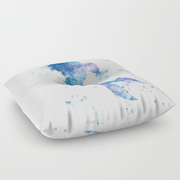 Mermaid Floor Pillow by monnprint