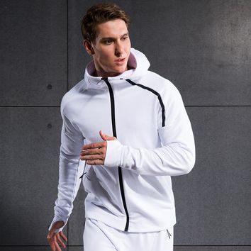 Outdoor Sports Climbing Soccer Football Gym Jogger Zipper Cardigan Coat Sweater Men s Running Fitness Excercise Hooded Jacket