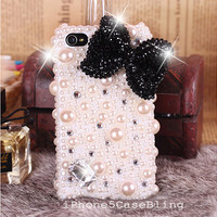 iPhone 4 Case, iPhone 4s case, iPhone 5 Case, Bling iPhone 4 case, iPhone 5 bling case, pearl iPhone 4 case, iPhone 5 case bow, iphone5 case