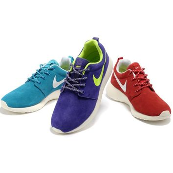 """Nike"" Women Leather Red Casual Sport Running Sneakers Sport Shoes G-MDTY-SHINING"