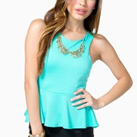 Metal Peter Pan Necklace Top