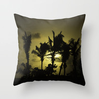 Sunset in Tropics Throw Pillow by Zina Zinchik