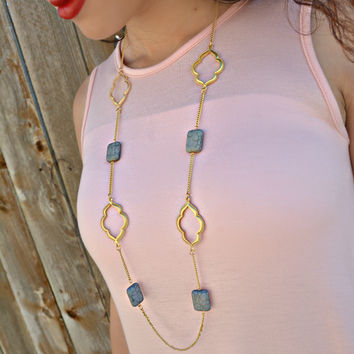 One And Only Necklace in Gray