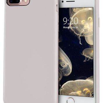 DCCKRQ5 MILPROX Silicone Case, Pretty Series Liquid Silicone Gel Rubber, Shockproof Case with Microfiber Cloth Lining Cushion for iPhone 7 Plus/8 Plus - Light Purple