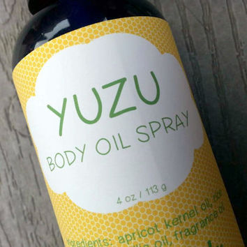 Yuzu Body Oil Spray ~ Dry Oil Spray ~ Moisturizing Body Oil ~ Spray Oil ~ Body Spray