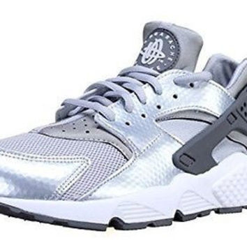 Nike Women's Air Huarache Run Wolf Grey/Silver 634835-014