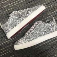 Christian Louboutin Cl Louis Junior Orlato Sneakers Reference 1 - Best Online Sale