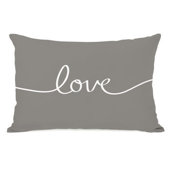 Love Mix & Match - Gray Throw Pillow by OneBellaCasa.com