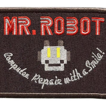 Something Different Awesome Large Black Mr. Robot Patch 10cm fsociety Badge for Shirt Hat Cap Jacket