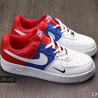 NIKE AIR Force 1 2018 Men's Fashion Casual Shoes F-A36H-MY White/Blue/Red