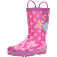 Western Chief Girls Flower Cutie Polka Dot Rubber Rain Boots