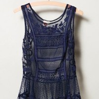 Embroidered Cypress Tank by Lilka Navy S Tops