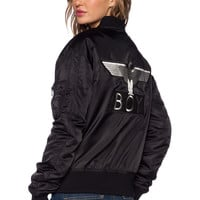 BOY London Reversible MA1 Bomber in Black