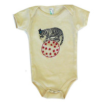 Embroidered One Piece and Toddler Tee- Tiger