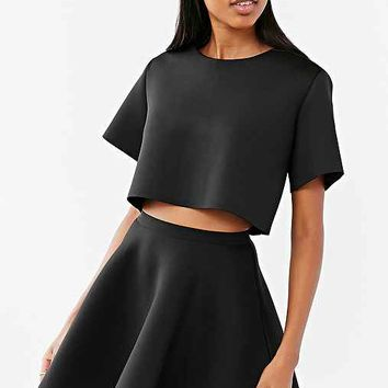 Silence + Noise Portia Spacer Ponte Mini Skirt- Black