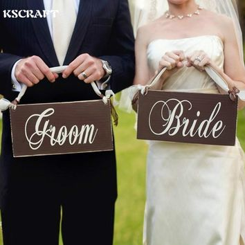 Wooden Bride and Groom Wedding Chair Decoration Sign Wedding Photo Props