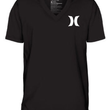Icon V Neck Mens Premium Fit T-Shirt - Hurley