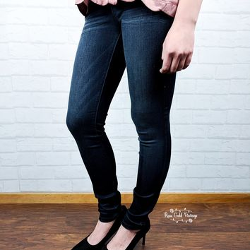 Rayon Blend Dark Skinny Jeans by Judy Blue - size 0 only