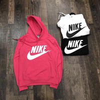 nike women fashion hooded top sweater pullover sweatshirt