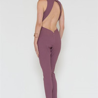 Missy Open Back Jumpsuit- FINAL SALE