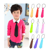 Boys Kids Children School Baby Wedding Colour Elastic New Tie Necktie [7981377351]