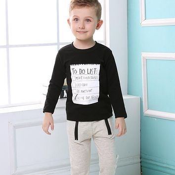 Boys To Do List Shirt and Pants 2 Piece Set