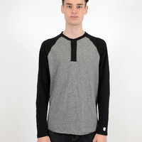 Todd Snyder x Champion Colorblock Henley Salt And Pepper