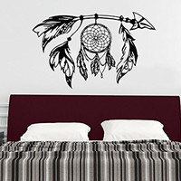Tribal Arrow Wall Decal Dreamcatcher Dream Catcher Feathers Night Symbol Indian Vinyl Sticker Decals Home Decor Bedroom Design Interior NS976