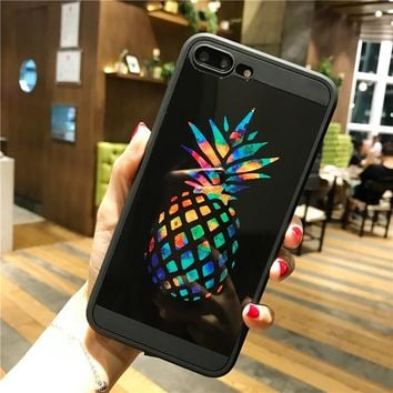 Fashion pineapple mirror mobile phone case for iPhone X 7 7plus 8 8plus iPhone6 6s plus -171209