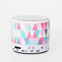 Colorful Geometric Triangle Wireless Bluetooth Mini Speaker