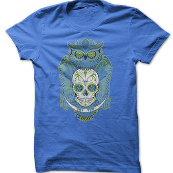 Blue Owl Skull Shirt