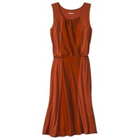 Merona® Women's Knit to Woven Colorblock Dress - Rust Brown