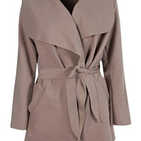 Abigail Waterfall Coat | Boohoo