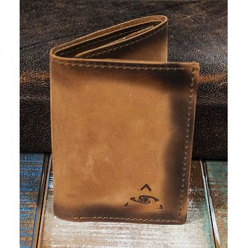 6-Slot Trifold Wallet - The Stanza (Burnt Timber Leather)