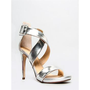 Blackjack Strappy Metallic Heels