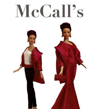 """Tyler Wentworth 16"""" Tonner Doll Evening Formal Clothes- Gown, Belt, Purse, Coat, Top & Pants- McCalls 4127 UNCUT Craft Sewing Pattern"""