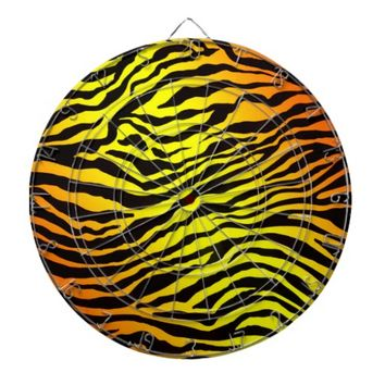 Tiger Stripes Dartboard With Darts