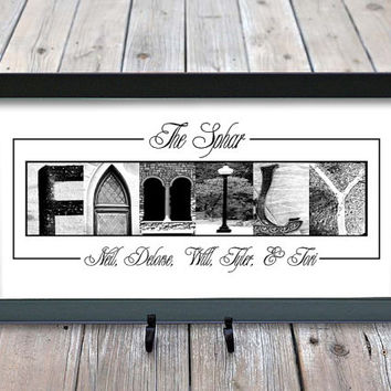 Personalized Family Home Decor Sign, Alphabet Letter Photography, Alphabet Photography, Family Name Sign, Established Family Sign 10x20