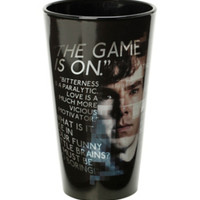 Sherlock Game Is On Pint Glass