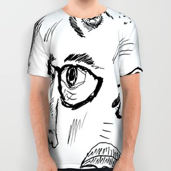 Faces All Over Print Shirt by Yuval Ozery