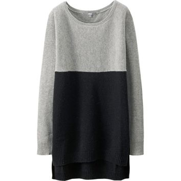 WOMEN LAMBSWOOL-BLENDED LONG SLEEVE TUNIC | UNIQLO