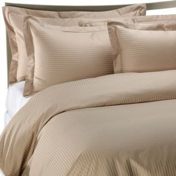 Palais Royale Hotel Collection Pillow Sham in Canvas Stripe