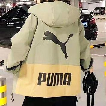 PUMA Hooded Zipper Cardigan Sweatshirt Jacket Coat Windbreaker Sportswear