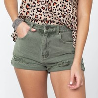 In Love Frayed Hi-low Shorts