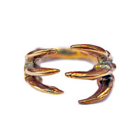 I liked this design on #Fab. Dino Claw Hugs Ring