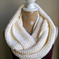 Chunky Knit Scarf - Cream