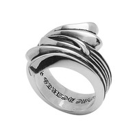 Chrome Hearts Ring With Fleur De Lis Tail - Chrome Hearts Ring