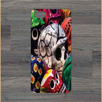 Painted Sugar Skulls Day of The Dead  iPhone 4/4S 5/5C 6/6+ Case and Samsung Galaxy S3/S4/S5