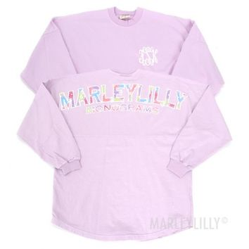 Monogrammed Wisteria Spirit Football Jersey | Marley Lilly