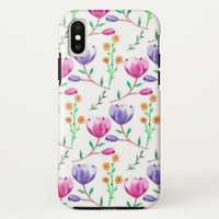 Crocus Flower iPhone X Case